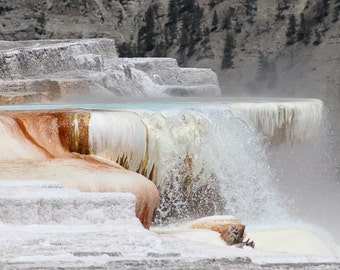 Mammoth Hot Springs, Yellowstone National Park, photographic print