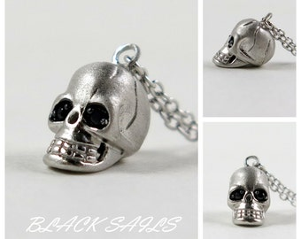 Day of the Dead Sterling Silver Skull Necklace #SK2