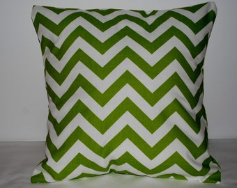 Christmas Green Chevron Decorative Pillow Covers made for your home.