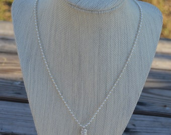 necklace with a beautiful quartz
