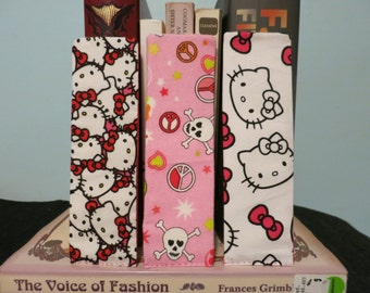 Set of 3 Hello Kitty and Skulls Bookmarks
