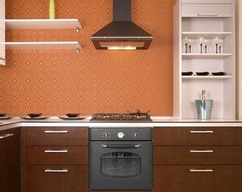 SAFI All over Wallpaper Stencil / Reusable Stencil / DIY / Home Decor / Interiors / Feature Wall / Wallpaper alternative
