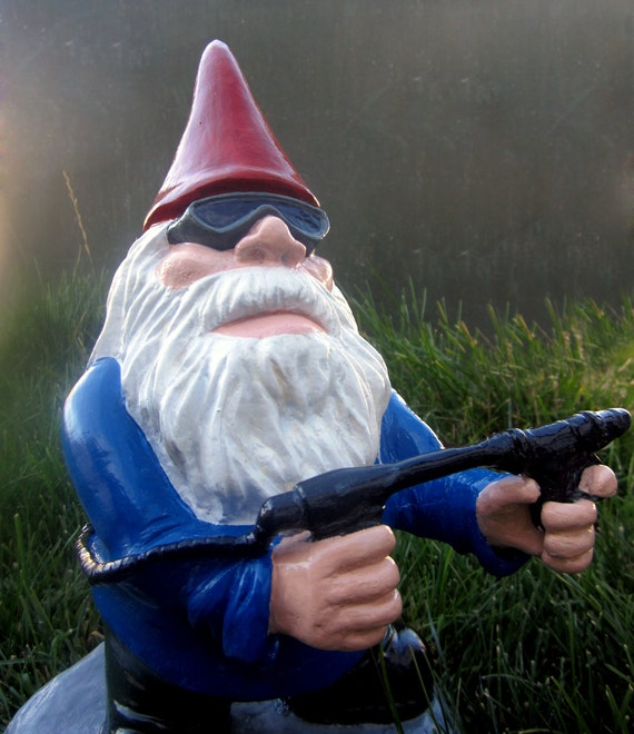 Combat Garden Gnomes: Combat Garden Gnome Flame Thrower Soldier By GnarlyGnomeArt