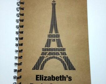 Paris, Paris Travel Journal, Eiffel Tower, Trip Abroad, Trip to Paris, Paris Notebook, Europe, Travel notebook, Vacation, Personalized