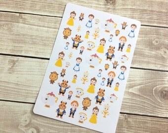 The Beast Stickers! 1 sheet, for your Erin Condren Life Planner, Plum Planner,  Filoflax, calendar or scrapbook!