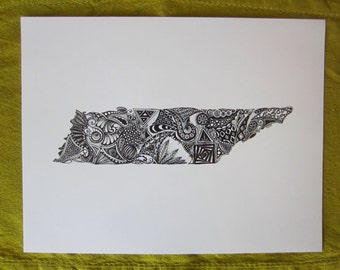 Tennessee Outline Art Print