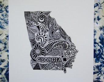 Georgia Outline State Art