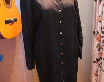 Black Jaeger shirt Dress size 16 REF116b