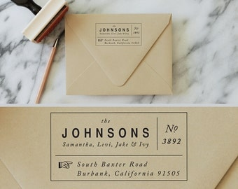 Return Address Wood Stamp - Modern Typeset - Custom Address - Housewarming Gift - Personalized - Business Cards - THIS WAY HOME