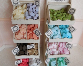 1:12 DOLLHOUSE Bars of soap. Available in 15 colors