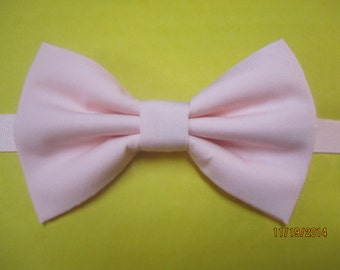 Pale baby pink bow tie, Light pink bow tie, Blush pink bow tie, Men's pink bow tie, Boy's pink bow tie, Blush pink  bow tie for wedding.