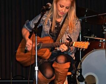 """Bling Guitar Strap """"Gun Metal"""", Guitar Straps, Gifts, Musician Gifts,  Miranda Lambert Guitar Straps, Nashville Guitar Straps"""
