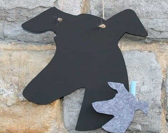 Attractive Grayhound head Chalkboard for any dog lover !