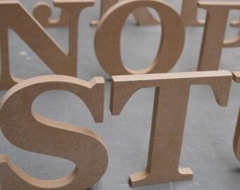 Georgia Font Freestanding Letter 18cm High Wooden 18mm MDF