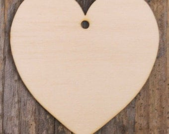 Wooden Curvaceous Heart Craft Shape 3mm Plywood in Sizes 3cm - 12cm