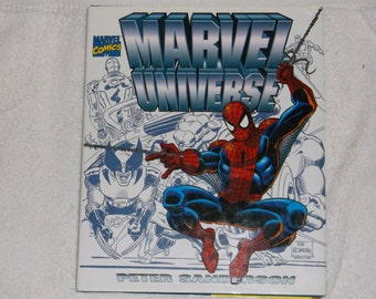 marvel- comics- M.universe-hardcover -10x12in-1990s-VG