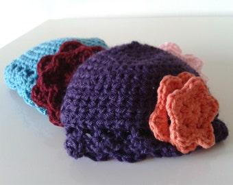 Crochet handmade baby cloche