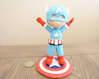 Captain America, Baby Captain America Cake Topper, Avengers Cake Topper, Marvel, Captain America Figure, Captain America Collectable!