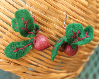 Beet Earrings