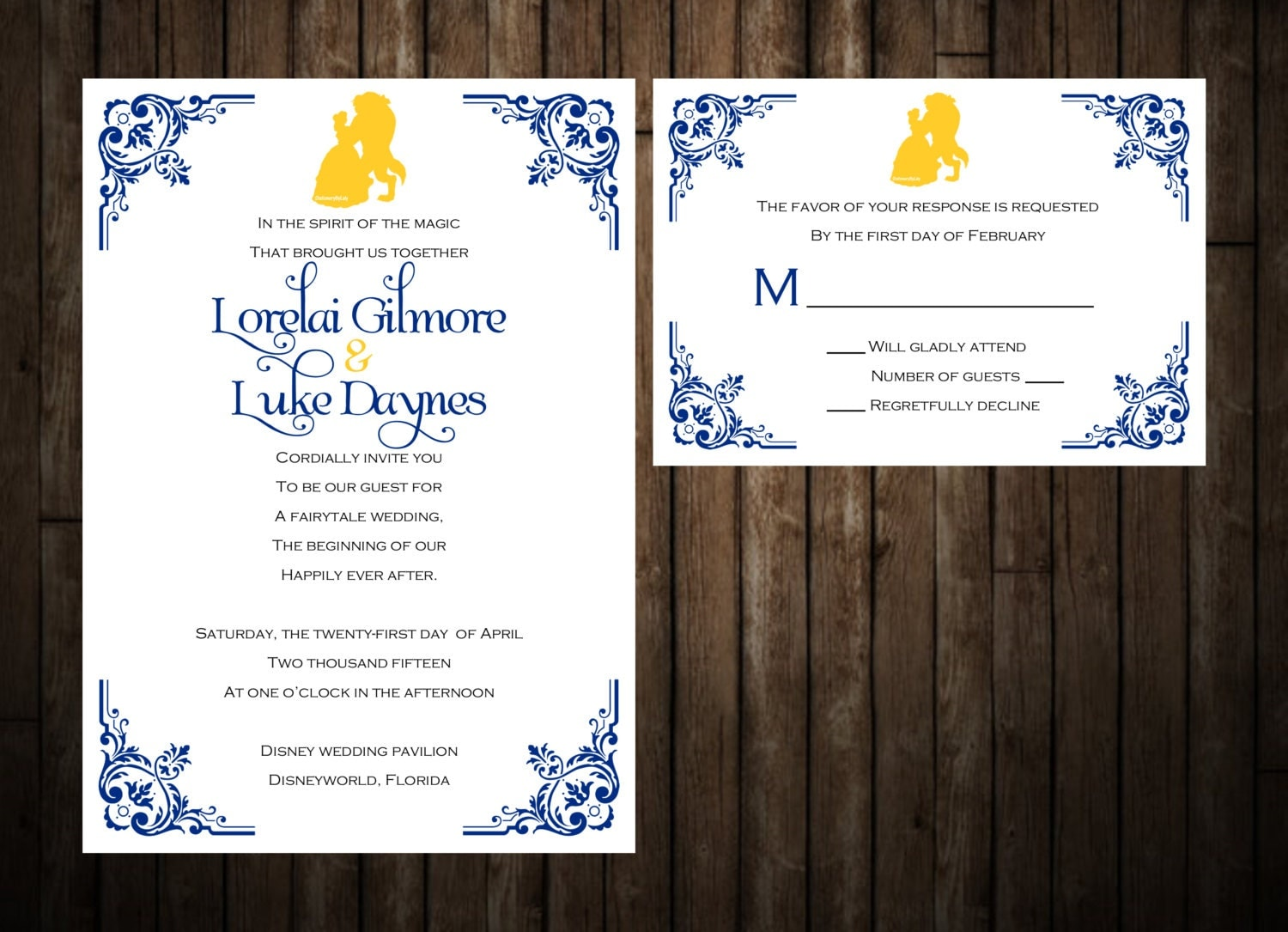 Beauty And The Beast Themed Wedding Invitations: Beauty And The Beast Wedding Invitations By StationeryByLaly
