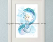 Last Chance to Buy - Frozen Queen Elsa 11x17 Art Print