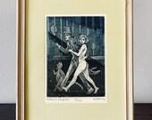 Master and Margarita - Illustration | original etching print