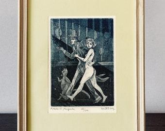 Master and Margarita - Illustration   original etching print