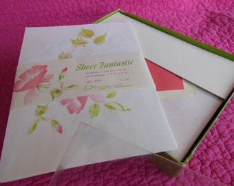 Sheer Floral Stationary