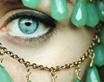 "Iris, 12""x17.5"" eye/necklace photograph"