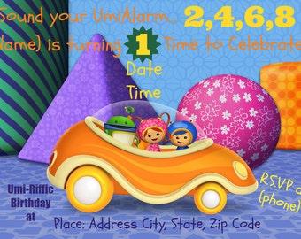 UmiZoomi Birthday Invitation