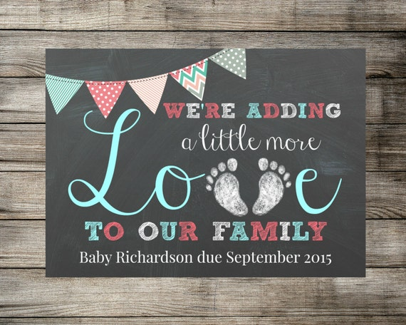 baby    pregnancy announcement we u0026 39 re adding a little more