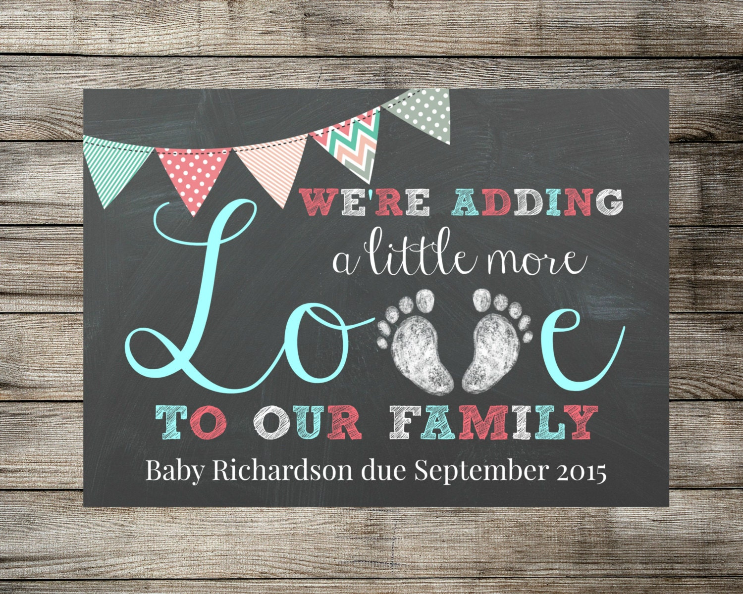 Baby Pregnancy Announcement Were Adding A Little More – Etsy Baby Announcements