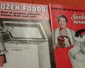 61-Recipes from 1950s/Sunbeam mixmaster/General electric/Consumer insitute Louisville2 Kentucky/Frozen foods prepare freeze/Home decor