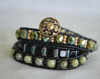Jade Stone Wrap Bracelet