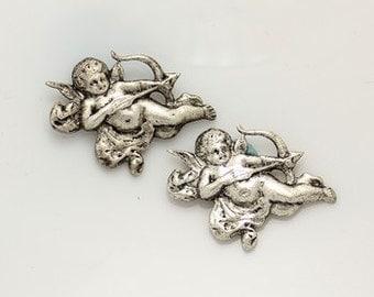 2pcs--Cupids, Metal Stampings (B16-16)