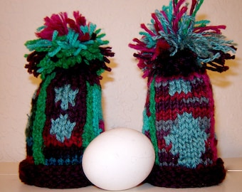 Easter EGG COZY hand knitted individually designed No Two Alike