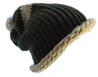The Tommy Beanie Style Hat~ Hand knit & customizable