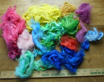 Brights! Bright dyed Suri Locks for Penny Candy
