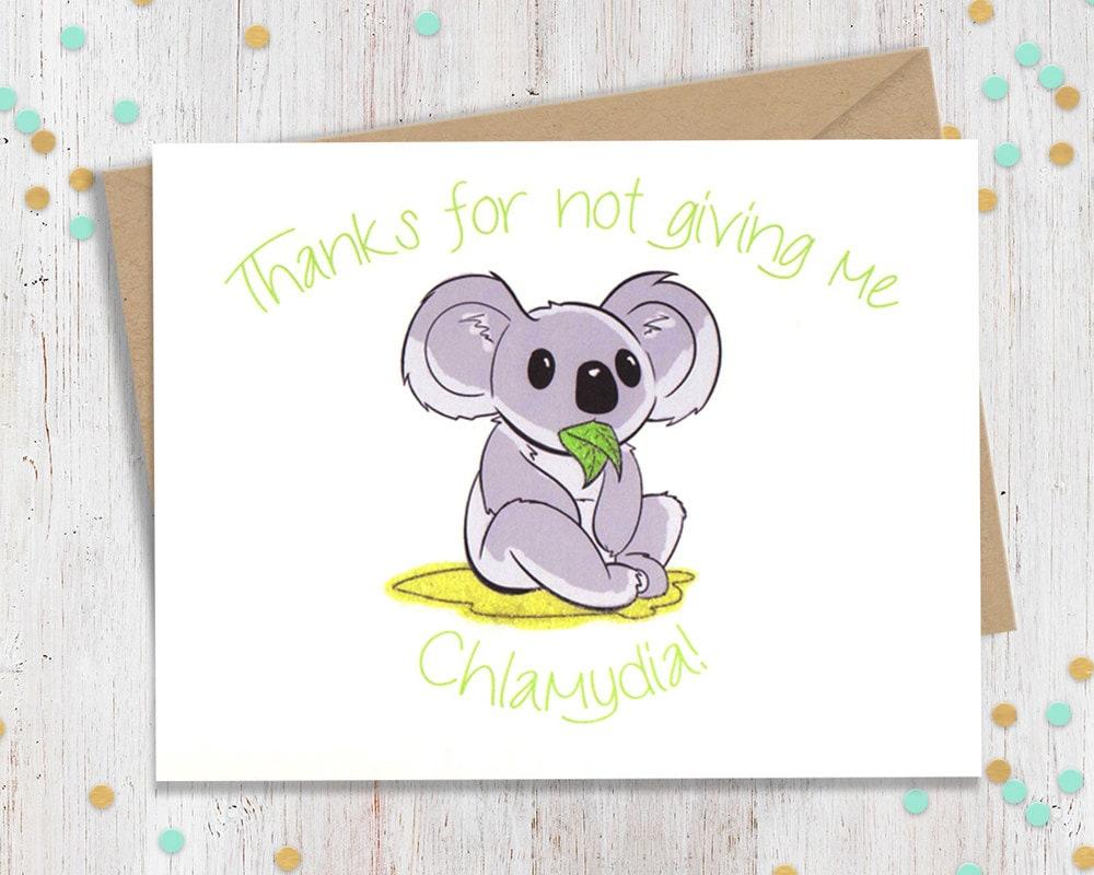 5 x 7 Chlamydia Koala Funny Valentines Day Card Funny – Elephant Valentines Card