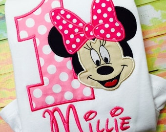 Minnie Mouse Birthday Shirt - Personalized