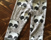 Organic Baby Leggings Panda Print size 3-6 months ready to ship!!
