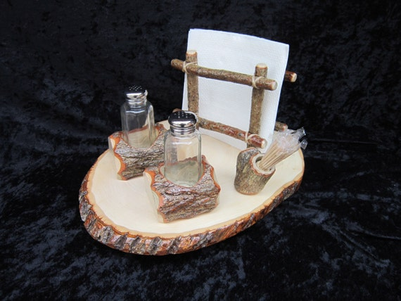 Lazy susan with salt pepper napkin and by briarridgecreation - Toothpick holder for purse ...
