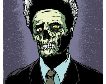 VHS / Z-Eraser Head Zombie-Limited Edition Print