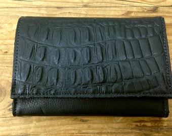 Sale!!! Black leather Women wallet handmade wallet leather purse Leather wallet orgenized wallet for women iphone wallet