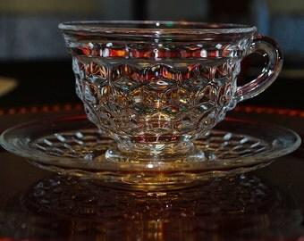 Fostoria American Tea cups and Saucers - Set of 4 each