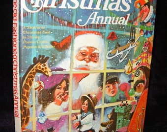Vintage, The Old-Fashioned Christmas Annual (1977) Hardback Book.