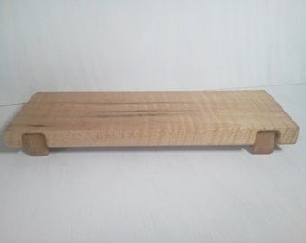 Curly Maple Serving Tray Hand Made