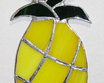Stained Glass Pinapple! Handmade Suncatcher