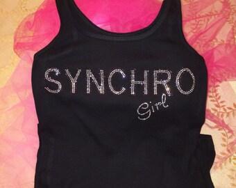 Custom Synchro Girl - Team Rhinestone Tank Top