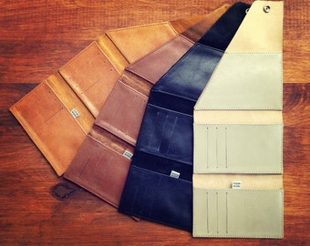 Genuine leather phone/money wrap wallet.  This is the perfect wallet if you want to keep your money and phone together.